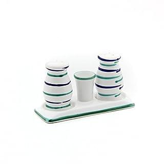Gmundner Keramik Manufaktur 0104SGBC09 traunsee Salz/Pfeffer Set bauchig,