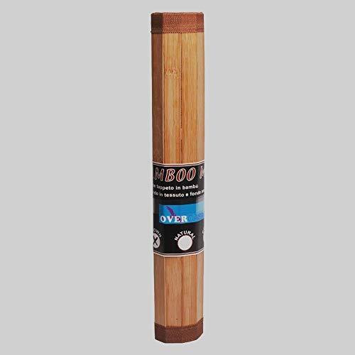 OVERCASA Alfombra Bamboo Mat Antideslizante cm 40x 70Col. Brown Láminas mm 25