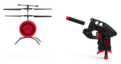 Speedlink Drohnen Schießspiel - Drone Shooter Game Set (Helikopter-Flugdrohne mit Pfeilwerfer - Selbstabschaltung bei Treffer oder Erschütterung - Höhenkontrolle durch Infrarotsensor) Schwarz (Tech Und Go Mobile Power)