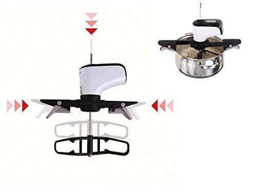 Rührgerät Automatisch Topfaufsatz Automatik Rührer Küche Topfrührer (Soßenrührer, Kochlöffel Elektrisch, Akku, Ladestation)