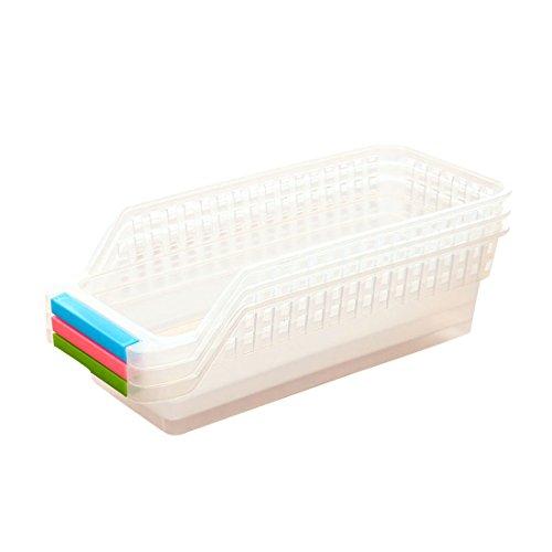 4Kühlschrank Lagerung Organizer behandelt Sammelbox Rack Ständer Korb Behälter zufällige Farbe