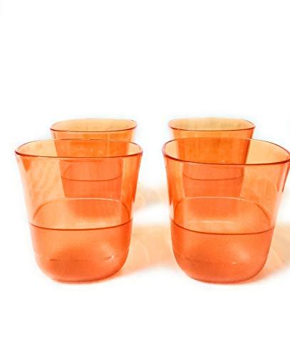 Tupperware Clear Tumbler  Set of 4   230 ml Each