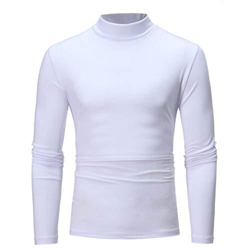 Kostüm Silber Pierre - MRULIC Herren Pullover Sweater Kapuzenpullover Sweatjacke Hoodie Sweatshirt (Weiß,EU-44/CN-M)