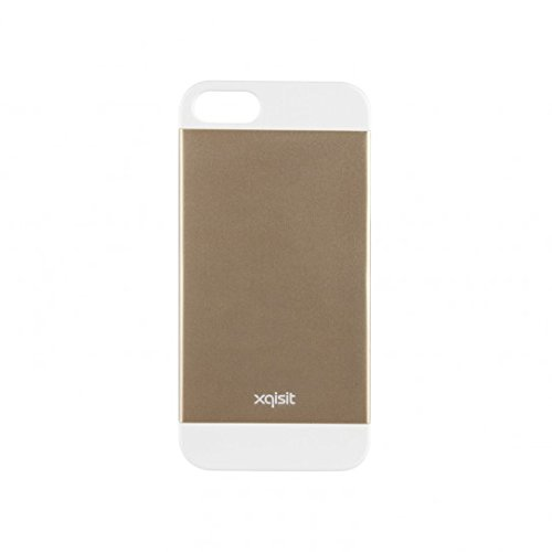 Xqisit iPlate Matt Case Cover Schutzhülle für Apple iPhone 5/5S/SE Goldfarben / Weiß