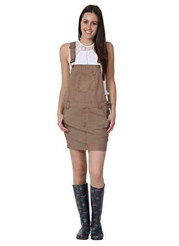 USKEES CLAIRE Kurze Latz Kleid übergroße Oversized - Beige Latzhosenkleid Damen- CLAIREBEIGE-18