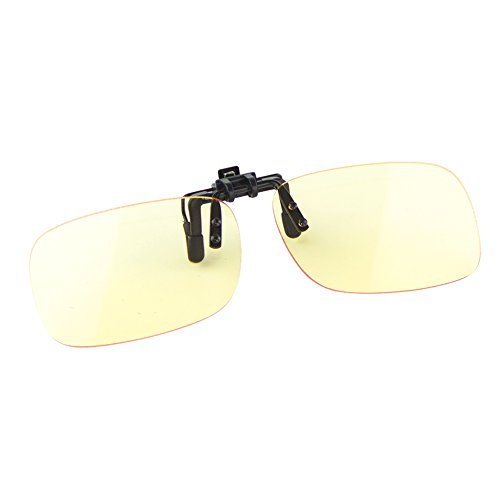 Cyxus blau Licht-Filter UV-Blocker Gläser [Clip auf] Anti-Belastung der Augen (Schlafen besser), blendfrei, Computer/Handy/PC Game/TV Sicherheit Schutz Block Strahlung Lesen Eyewear
