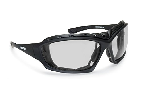 Gafas para Moto - Lentes Anti-Vaho - Patillas Sustituibles con Banda Elastica...