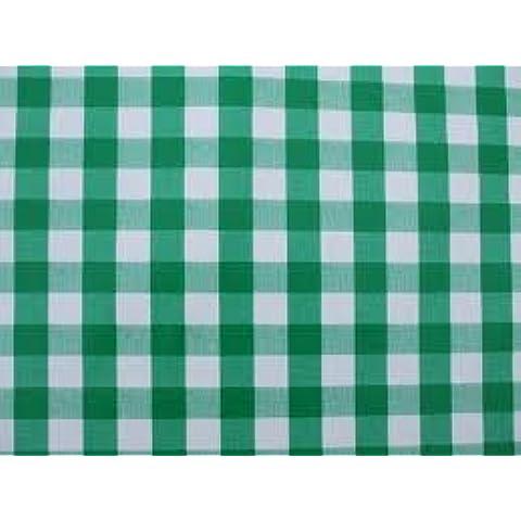 Verde a quadretti Square Check Tela Cerata in PVC Vinile