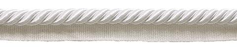 Groß, Weiß 3/20,3cm Basic Rand Kordel mit Lippe, verkauft von Hof, Stil # 0038s Farbe: A1