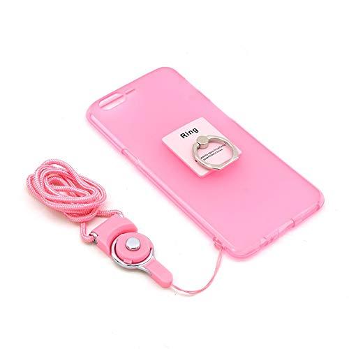 Dulaxie Telefon-Kasten für OnePlus Fünf Metall-Schlüsselanhänger Finger-Ring-Halter-Standplatz Trageband für eine Plus 5 EIN Plus 3T TPU Case [Rosa] (Metall Telefon-kasten Iphone 5)