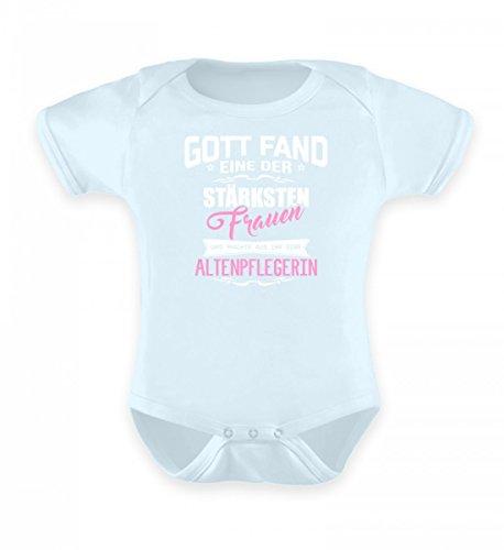 Hochwertiges Baby Body - Altenpflege Shirt · Geschenk für Pflegekräfte · Spruch: Gott Fand Frau Altenpflegerin