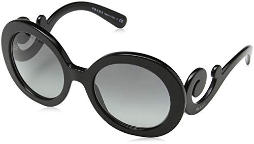 Prada 0pr27ns 1ab3m1 55 occhiali da sole, nero (black/grey gradient), donna