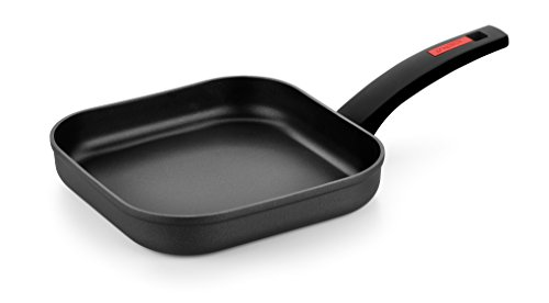 Monix Titan - Grill liso, 24 cm, aluminio forjado con antiadherente reforzado con titanio, full induction