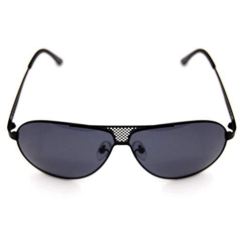 Easy Go Shopping Herrenmode Fahren polarisierten Sonnenbrillen, Retro-Designer-Sonnenbrillen Sonnenbrillen und Flacher Spiegel (Farbe : Schwarz)