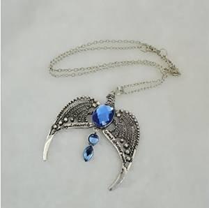 Antik Silber Blau Stone Eagle Halskette H P Hogwarts Schule Diadem Ravenclaw Unisex-Halskette Film Hexerei Jewelry Cosplay Herren