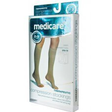 Medicare Footcare Medicare Compression Stockings - Knee High Open Toe - Class Ii Moderate Compression Large by Medicare Footcare