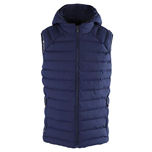 314DYzCCH7L. SS500  - Aramox Heated Vest, USB Adjustable Smart Charging Heating Vest Outdoor Men's Hooded Warm Up Jacket(L-Blue)
