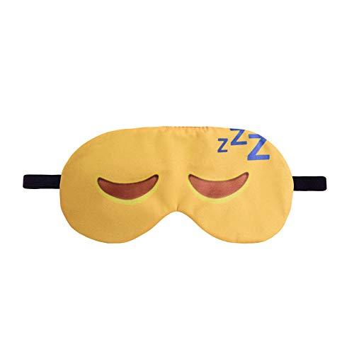Melodycp Augenmaske mit gekrümmten Augen, 3D Bedruckte Schlafbrille, Schlafmaske für die Augen, Tragbare Tasche und Augenmaske, leicht und bequem für die Stunden
