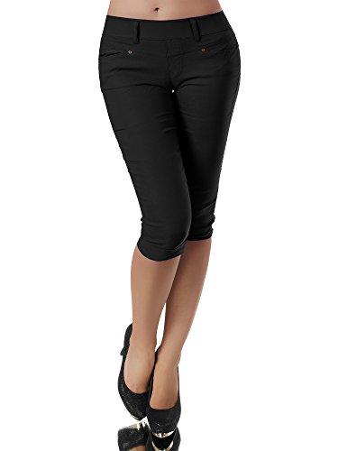 1015b73614 Diva-Jeans N958 Damen Caprihose Treggings Leggings Stoffhose Sommerhose  Knielang 3/4 Capri