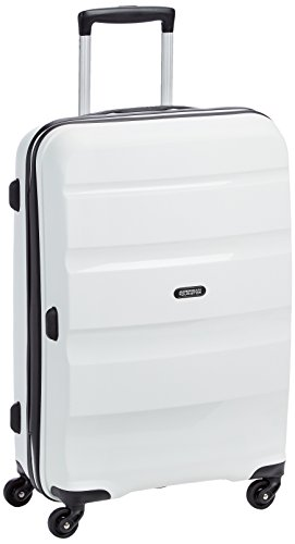 American Tourister Bon Air Spinner M Maletas y trolleys, 66 cm, 53 L, Blanco...