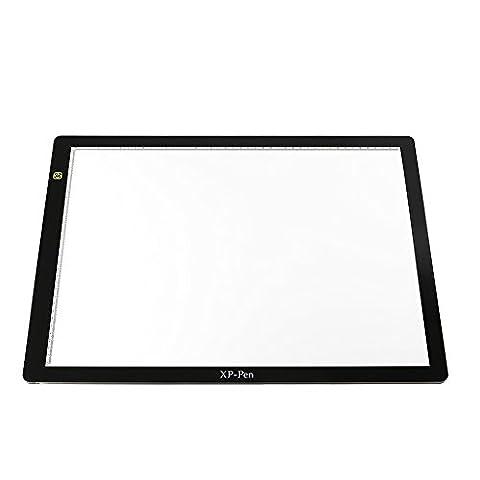XP-Pen CP A3 Tablette Lumineuse 24 Pouces LED pour Décalquer Table de Dessin light Pad Graphique X-ray Tablette avec Pince de Papier et Gant Anti-fouling (Plastique, A3)