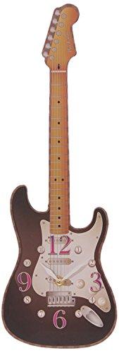 Puckator CKP68 Ted Smith Horloge Découpée Guitare 3 x 17 x 50 cm - Mention Aléatoire