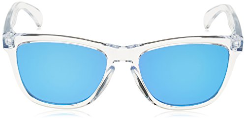 Oakley Frogskins Crystal Collection Lunettes de Soleil Homme Multicolore (Polished Clear / Sapphire Iridium)