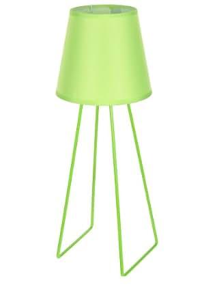 Lampe de chevet pied trapèze en métal - vert