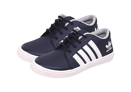 SKYMATE Navy Blue Cool Sneakers for Boys(7yrs-15yrs,) Size-2 UK
