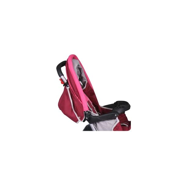 Exclusive Tandem - Twin Pram rose - BambinoWorld Bambino World You are purchasing a high quality and first class Tandem/ Twin Pram from Bambino World, with additional equipment and safety features, ideal for great day trips and every day use. Ideal pram for parents of twins or children with small difference in age. While your larger child explores the environment, your baby sleeps at fresh air. It is suitable from birth (rear seat) and 6 months (front seat) to about 3 years (15 kg). MAIN FEATURES: Easy folding (112 x 56 x 40 cm) ;Size open 110 x 54 x 120 cm ; weight 16,5 kg ;Height handle 107 cm, backrest 40 cm, seat depth 23 cm; wheel diameter 20 cm . EXCLUSIVE ADVANTAGES:Very compact and light frame ;All wheels with springing for a comfortable journey ;Front reflectors for your safety ;Lockable swivel front wheels ;Separate brakes on rear wheels ;Several position lie back adjustable seat :Back seat: sitting and lying position ,Front seat: sitting and resting position ;Seat guarantees good ventilation and comfortable seating ;5-point safety harness ; Age: Front seat: 6-36 months | Rear seat: 0-36 months 6