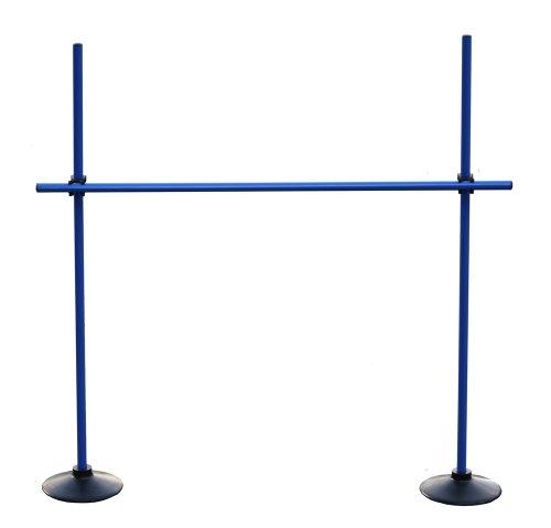 Sprungstangen-Set VG100bc (3 Stangen, 2 Vollgummi-Standfüße, 2 Clips), Farbe: blau