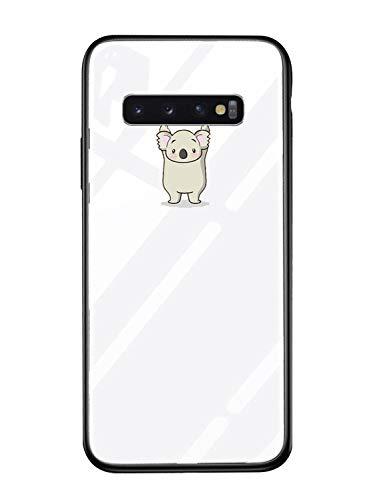 Alsoar Shell ersatz für Galaxy S10e Hülle Transparent Silikon Rahmen Handyhülle Durchsichtig Aufklappen Schutzhülle,Gehärtetem Glas Bumper Tier Süß für Samsung Galaxy S10e (Koala) - Regenbogen-kamera-objektiv