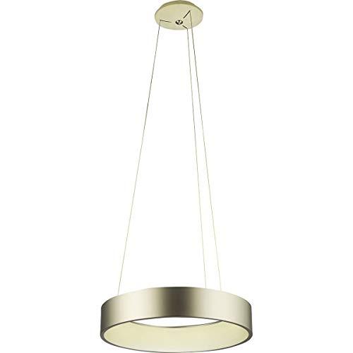 Suspension design LED EPSILON argentée en métal