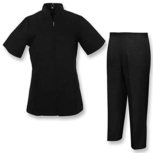MISEMIYA - Uniforme Medica con Camice e Pantaloni - Uniformi Mediche Camice Uniformi sanitarie OSPITALITÁ - Ref.8298 - XX-Large, Nero