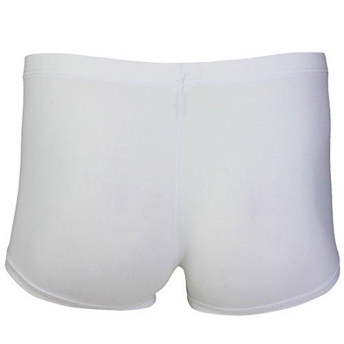 YiZYiF Transparent Herren Glatt Boxershorts Boxer Briefs Unterwäsche Trunk Pants Cool Reizwäsche M-XL Weiß