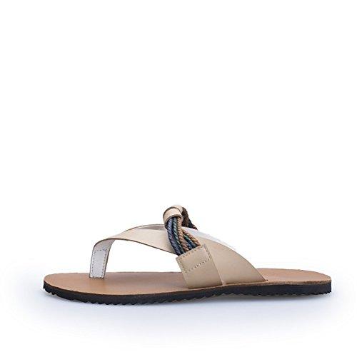 Sommer Herrenschuhe/ Herrenschuhe/Sandale/Anti-Rutsch Clip Fuß Flip Flops/Outdoor-Hausschuhe A