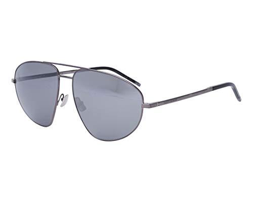 Yves Saint Laurent Sonnenbrillen (SL-211 003) metalisiert gun metall - blau-grau mit verspiegelt effekt