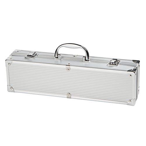 314E021rZpL - Bruzzzler Edelstahl Grillbesteck-Set 3-teilig im Koffer, Grillbesteck, BBQ Multi Grillbesteck, Grill Accessoire,, rutschfeste Griffe, stabile und solide Qualität, 11,7 x 8,5 x 38,8 cm