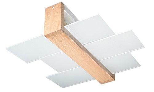 Plafoniere Da Corridoio : NovitÀ plafoniera legno naturale per salotto e corridoio vetro
