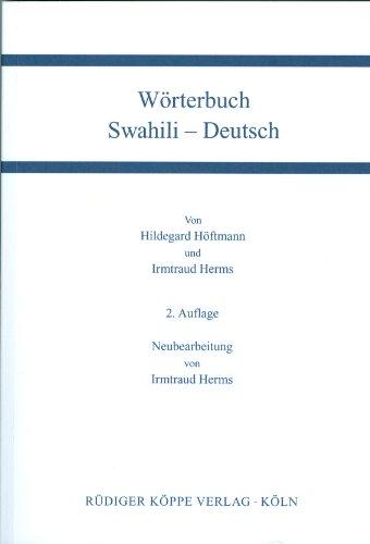Wörterbuch Swahili-Deutsch / Deutsch-Swahili (Zwei Teilbände)