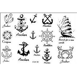 SPESTYLE wasserdicht ungiftig temporäre Tätowierung stickerslatest neue Design neue Release Tattoo wasserdichte Anker nautischen temporäre Tattoos