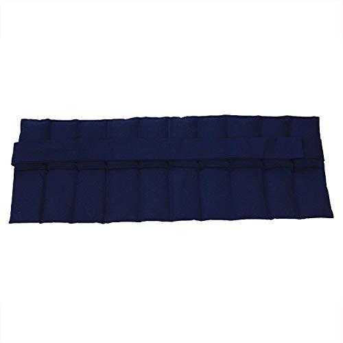 Hilfe bei Rückenschmerzen, Bandscheibenleiden! Hexenschuss Großes Wärmekissen mit Bändern- Körnerkissen - Nierenkissen - Wellnesskissen - Wohlfühlkissen- Füllung gereinigter Weizen - in 3 Farben (Blau) -