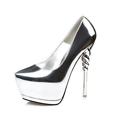 LFNLYX Frauen Fersen Frühling Sommer Herbst Winter Andere Club Schuhe PU Hochzeit Büro & Karriere Party & Abend Casual Stiletto Heel Black