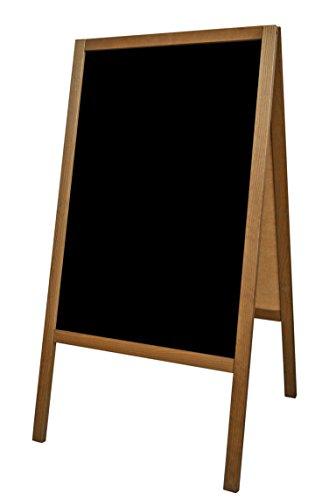 Panneau publicitaire Tableau De Chaussée Noir Craie Publicité Présentoir publicitaire Carte Chevalet de trottoir pour arrêter les clients chevalet pour Restaurants XS 90 x 51 cm