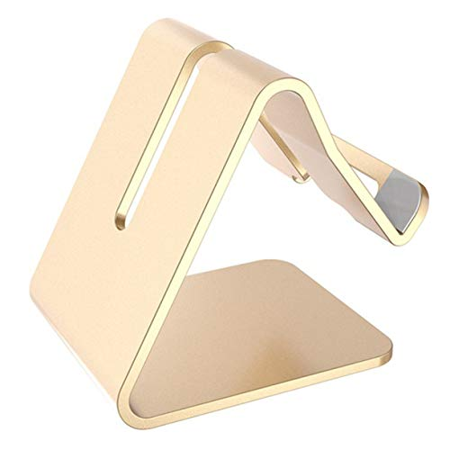 ZuanYin Pretty Mobile Phone Desktop Bracket Lazy Folding Portable Tablet Watching Tv Aluminum Alloy is A Live Support Frame(None Z1-Gold) Folding Frame Screen