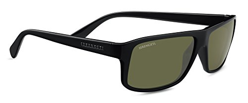 Serengeti claudio occhiali da sole, colore lente polarized 555nm, categoria lente 3, nero