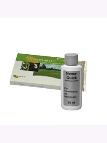 Nema-Green (25 Mio) + Nema-Quick (50 ml) Kombi-Packung HB Nematoden zur Bekämpfung des Gartenlaubkäfers