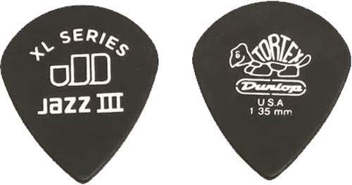 Dunlop 498 TORTEX JAZZ III XL Picks (72-Pack) 1.35 mm black