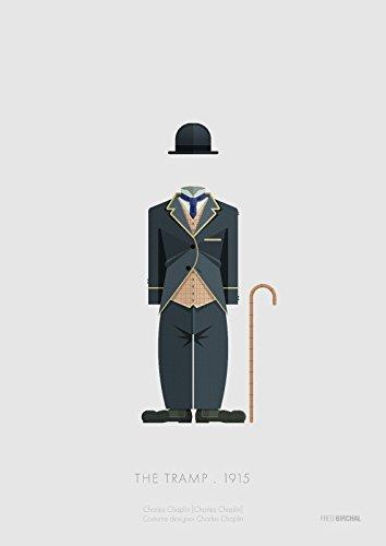 Tribute Art Print of The Tramp 1915 Kostüm, 300 g/m² Papier, mit Passepartout