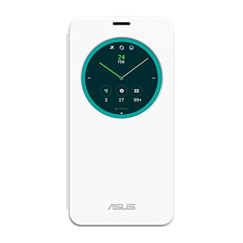 Asus View Flip Cover ZenFone 2 (ZE551ML,ZE550ML 5.5 Pollici), Bianco